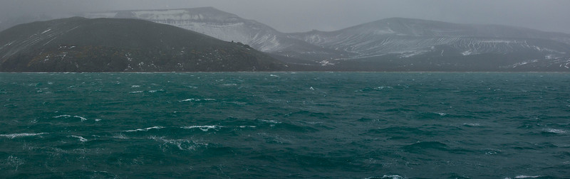 Inside Deception Island. Deception Island is actually the Caldera of an ancient Vulcano.