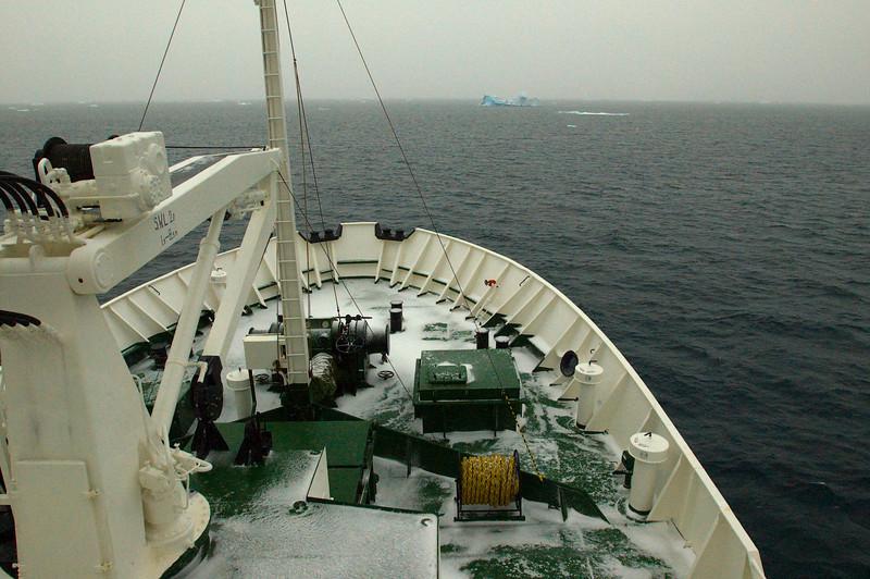 Fresh Snowfall on the Ship
