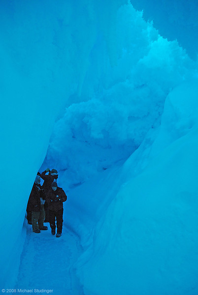 Inside the ice cave.