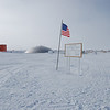 The old dome station at South Pole. This Antarctic icon serves currently as food storage but will eventually be removed.