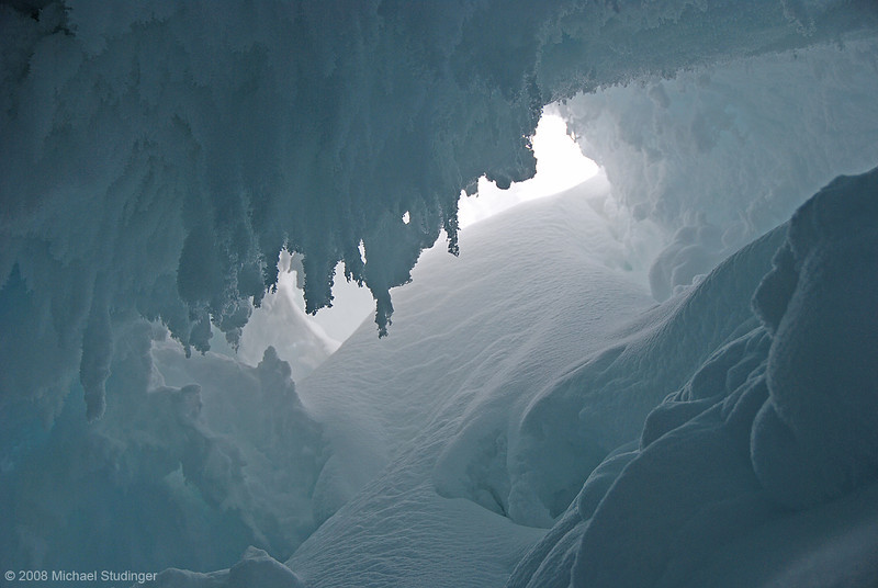 The ice cave.