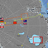 AGAP camp locations and aerogeophysical survey area in East Antarctica.