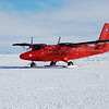 The airunit from the Britisch Antarctic Survey is part of the AGAP team with their DHC-6 Twin Otter VP-FBL that has a similar geophysical system installed than ours. You can see the ice-penetrating radar antennas and magnetometer pods mounted onto the wings.