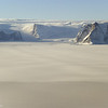 Glaciers flowing into the Larsen C Ice Shelf on the Antarctic Peninsula.