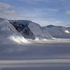Evening sunlight along the Antarctic Peninsula.