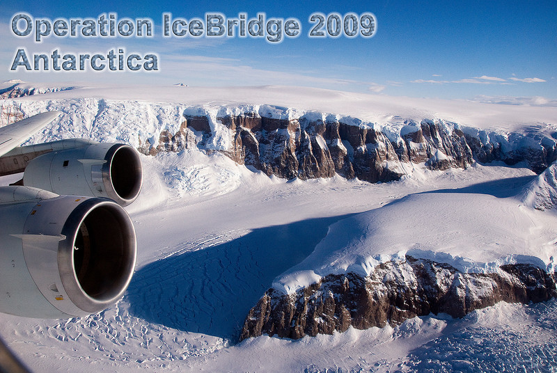 Operation Ice Bridge, Antarctica 2009, with NASA's DC-8 flying lab.