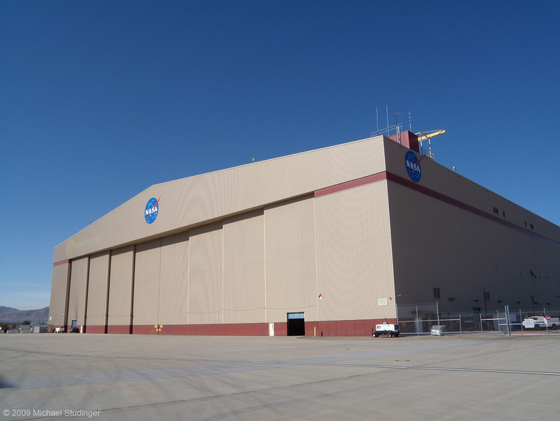 We begin our trip in Palmdale, California at NASA's Dryden Aircraft Operations Facily in the Mojave Desert. The huge hangar in the picture is home to NASA's DC-8 flying lab that we use for Operation Ice Bridge in Antarctica.