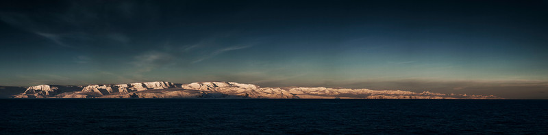 Sunrise over the Antarctic Peninsula