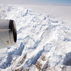 Flying over the Antarctic Peninsula.
