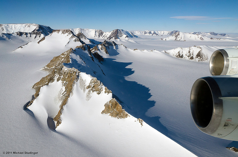 Another great day over the Recovery Glacier and Shackleton Range in Coats Land, Antarctica.
