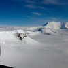 Mt. Myrphy, a shield volcano in Marie Byrd Land, Antarctica. View is from above Thwaites Glacier.