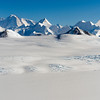 View of the Sentinel Range in the Ellsworth Mountains, Antarctica.