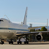 The Shuttle Carrier Aircraft (SCA) parked on the ramp at NASA's Dryden Aircraft Operations Facility (DAOF) is one of two modified Boeing 747 airliners that were used to transport the Space Shuttle orbiters from landing sites back to the Kennedy Space Center. The two Schuttle Carrier Aircraft were retired in 2012.
