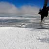 Sea ice in Sulzberger Bay, Ross Sea, Antarctica.