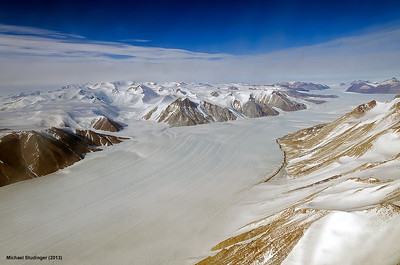 Ferrar Glacier in the Transantarctic Mountains.