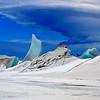 Pressure ridges on the sea ice near Scott Base.