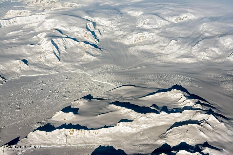 Glaciers along the Antarctic Peninsula.