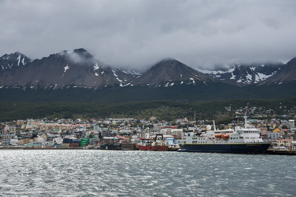 Our ship in port in Ushuaia