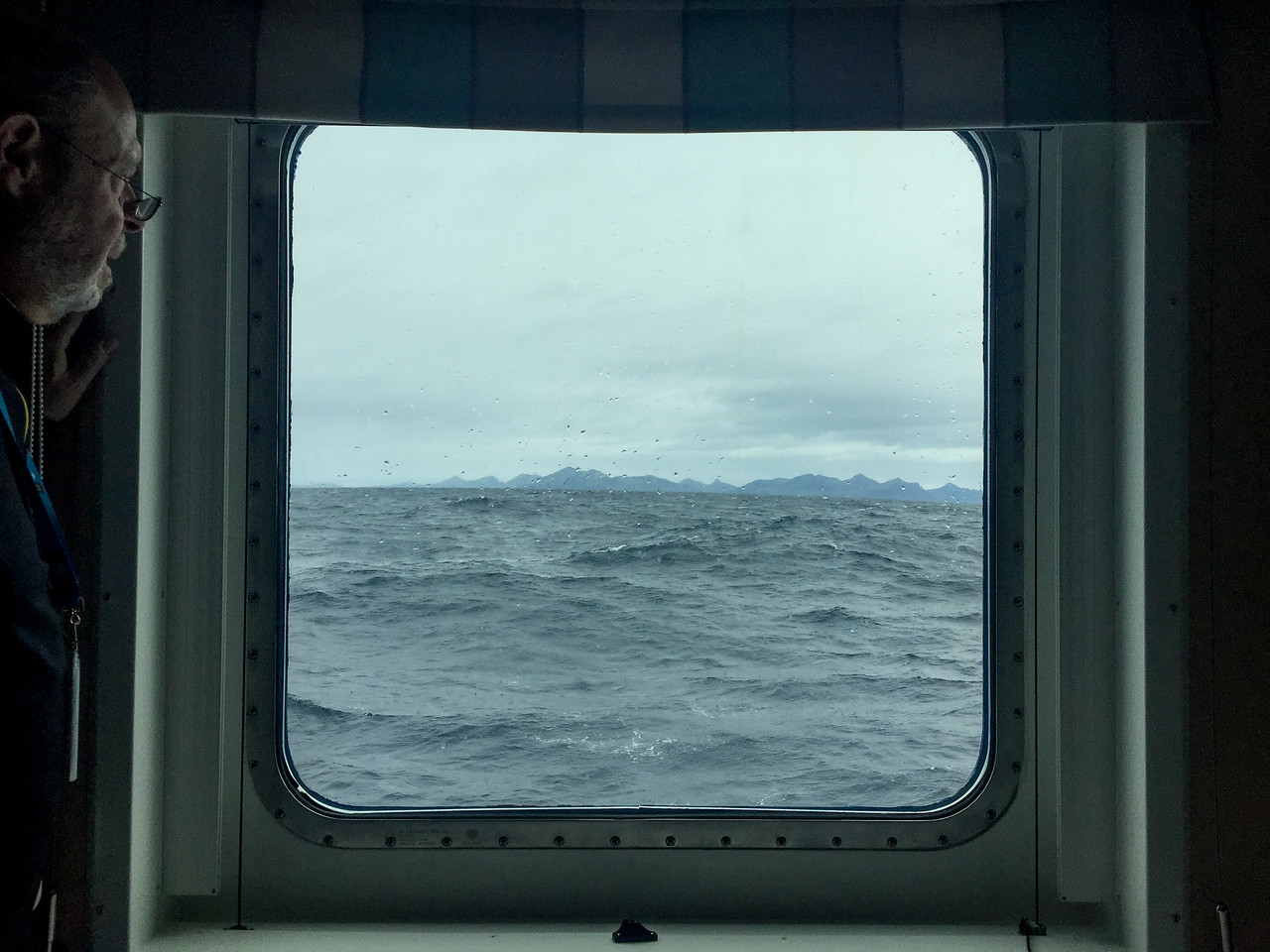 Dad looks at the Drake Passage