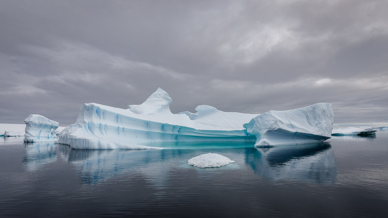 A cloudy and atmospheric day in the iceberg graveyard 1