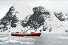 Antarctic Dream ship at Petermann Island, Antarctica