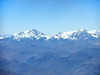 Andes Mountains on approach to Santiago, Chile