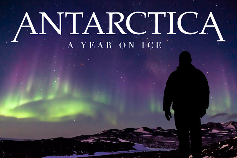 Antarctica: A Year On Ice<br /> Postcard horizontal plain.