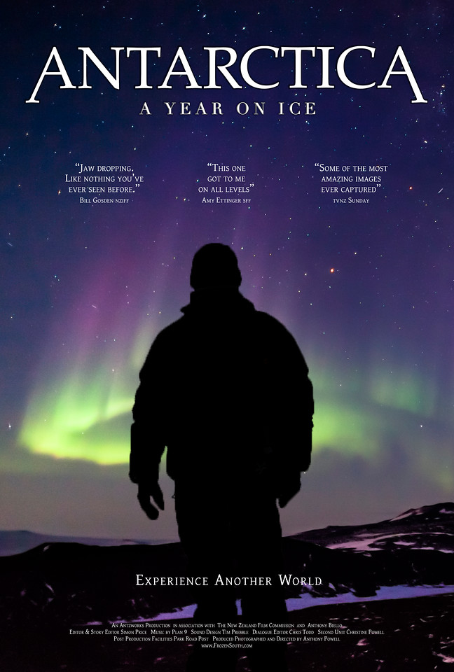Antarctica: A Year On Ice. Main movie poster print version.