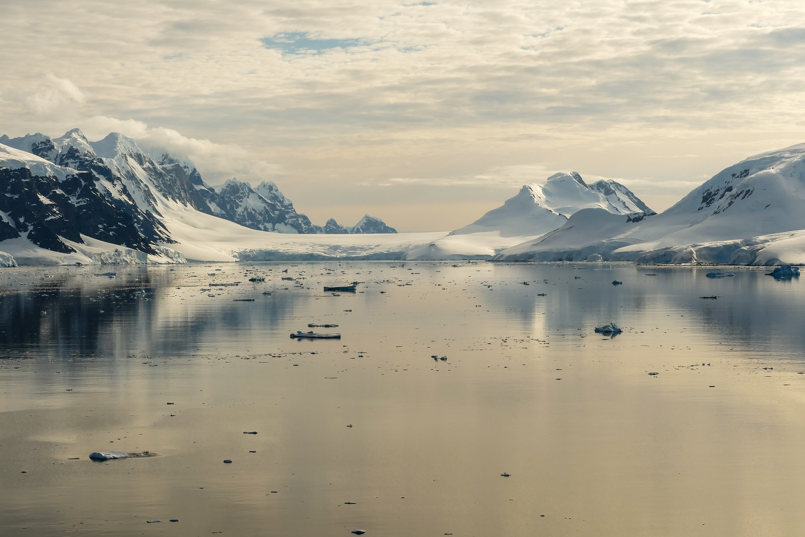 The scenery is stunning in Neumayer Channel. It's a beautiful Antarctica travel experience.
