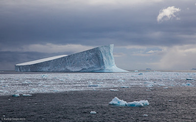 Tabular iceberg in the Scotia Sea near South Georgia island