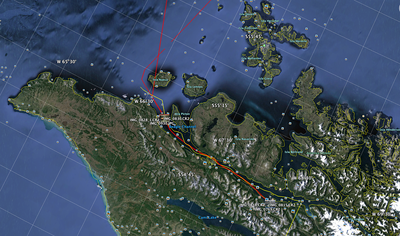 : GPS track on Akademik Sergey Vavilov, below the Antarctic Circle Trip, Jan 2013