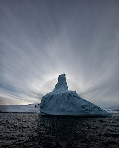 The light and the icebergs in Antarctica make for a stark but dramatic combination