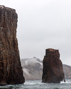 Deception island is an old vocanic cone looking fearsome