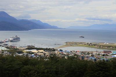 Ushuaia, looking down towards the Beagle Channel.