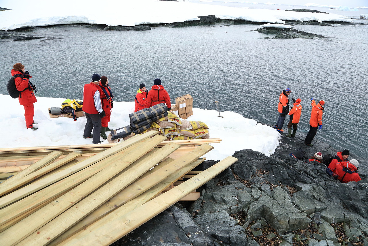 """South of the Antarctic Circle, Detaille Island, British scientific base """"W"""" of the late 1950s at 66˚52'S, 66˚48'W   Supplies delivered during our visit with One Ocean Explorations on the Sergery Vavilov, Jan 2013."""