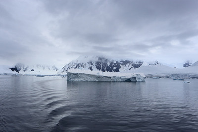 in the Gerlache Strait, view towards Anvers Island.