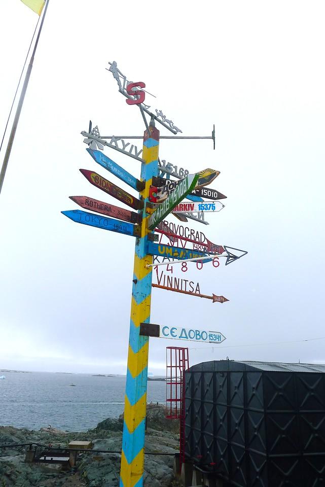 signs, from  Akademik Vernadsky Station, Galindez Island 65 15S, 64 16W