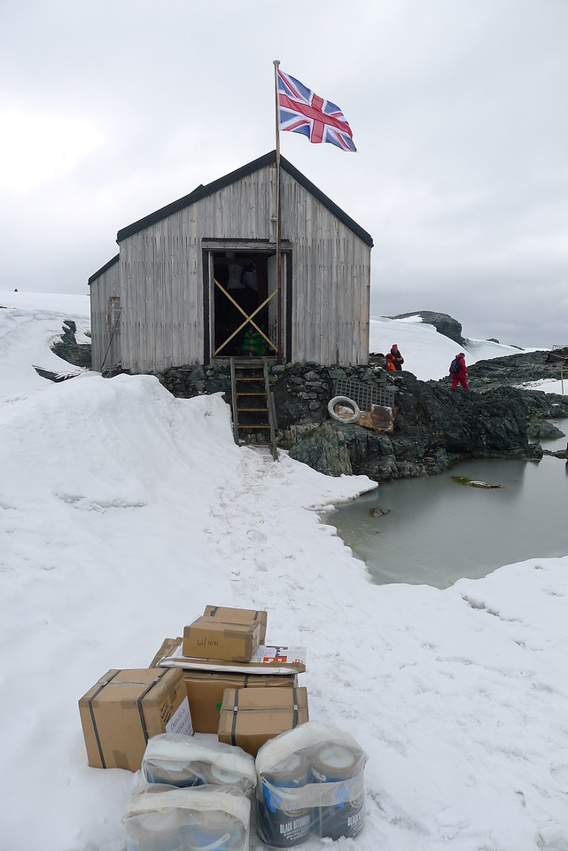"No FedEx did not make this delivery......South of the Antarctic Circle,  Detaille Island, British scientific base ""W"" of the late 1950s at 66˚52'S, 66˚48'W  