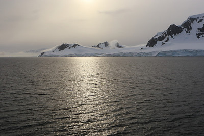 The Antarctic mainland (Danco Coast), in the Gerlache Strait