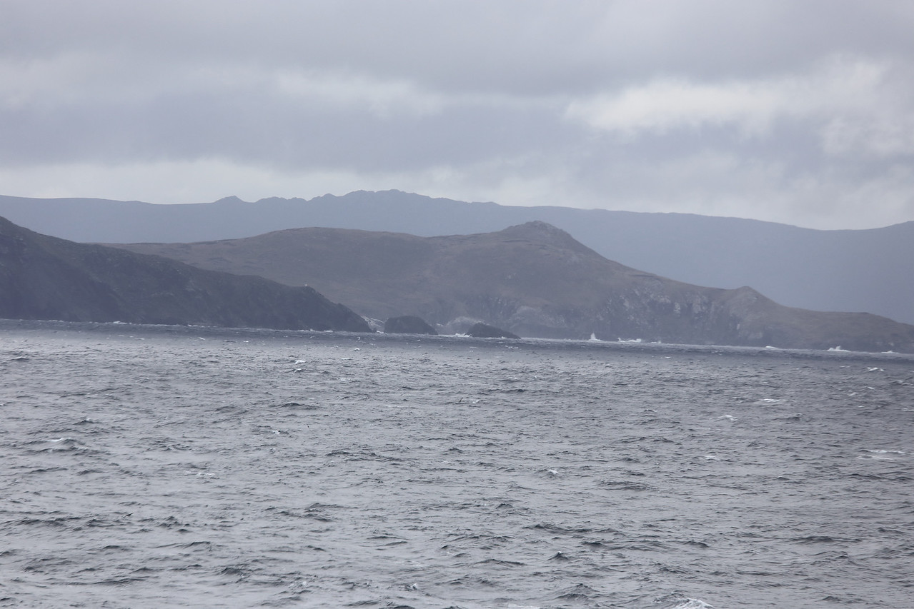 Isle Hornos Chile :  rounding the horn, before reaching the Chilean Cape Horn Lighthouse, the most southern.