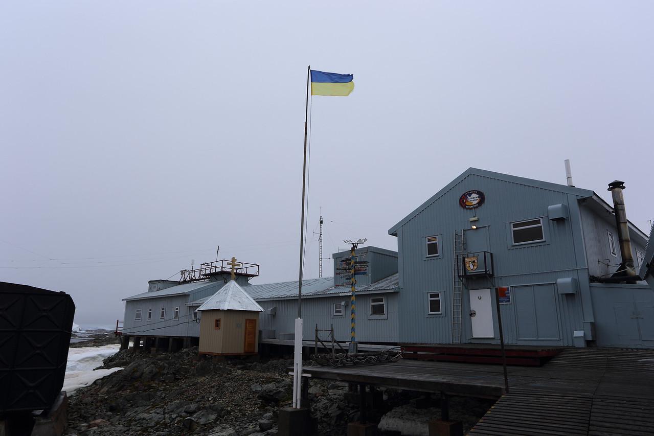 Akademik Vernadsky Station, Galindez Island 65 15S, 64 16W, it's not far from Wordie House.