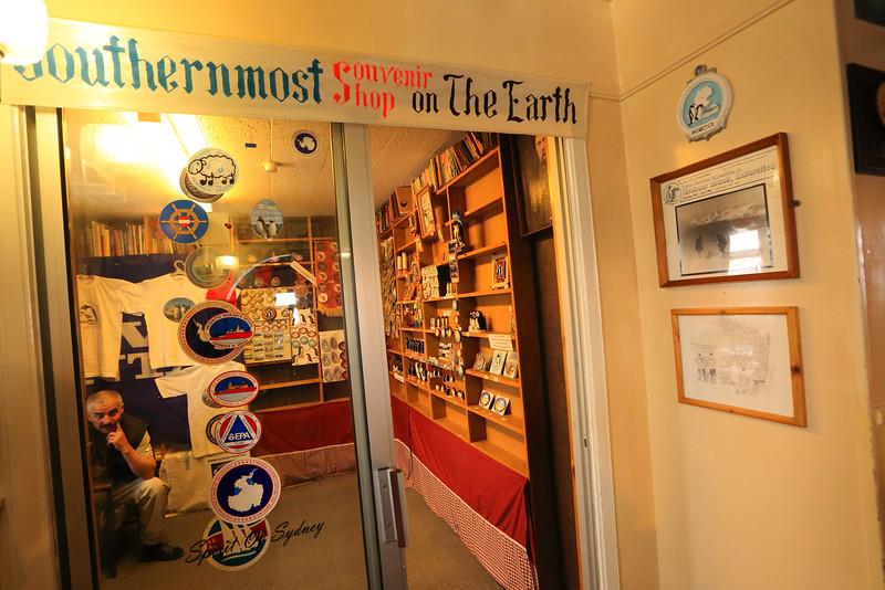 Souvenir Shop,  Akademik Vernadsky Station, Galindez Island 65 15S, 64 16W