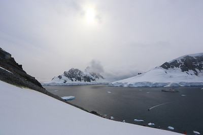"""Orne Harbour "", view from on the Antarctic mainland."