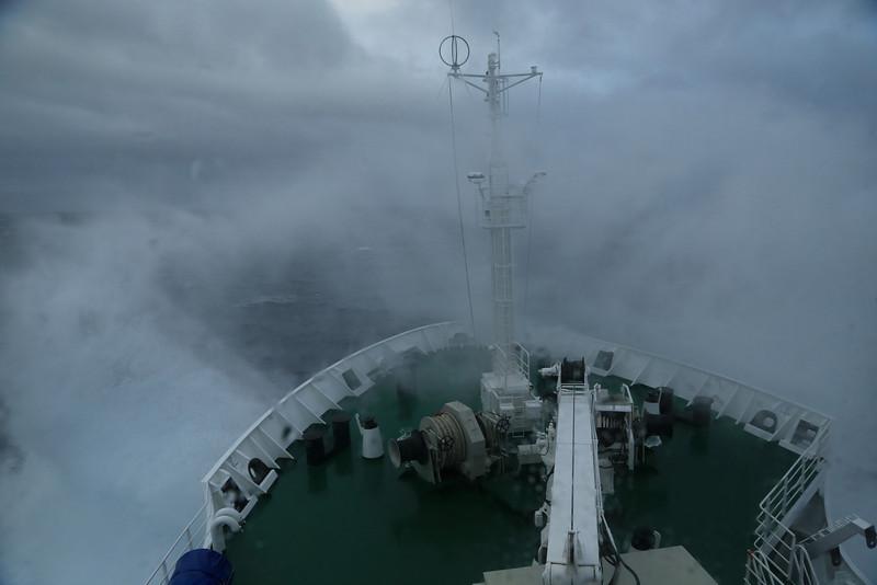 Crossing the Drake Passage on the Sergey Vavilov