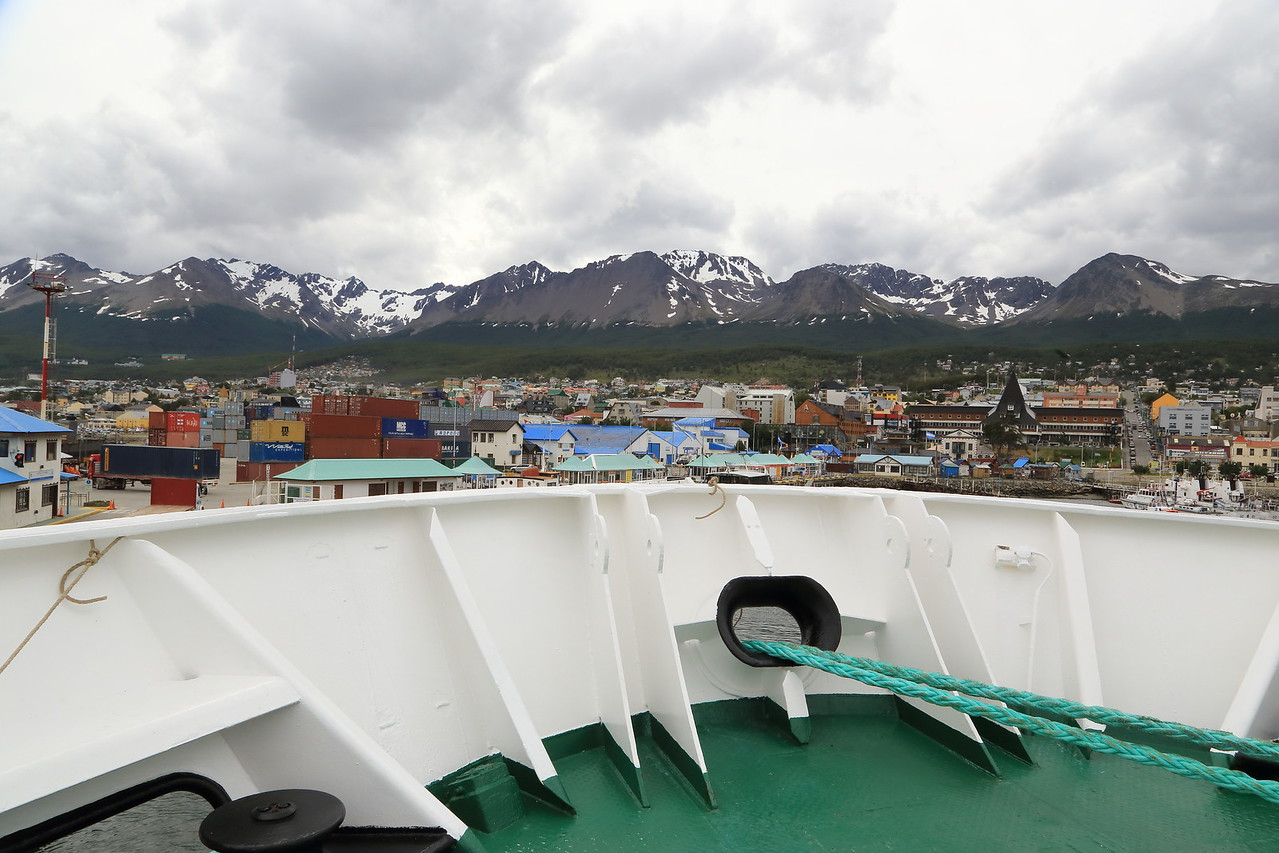 Ushuaia, the Sergery Vavilov at the dockside.