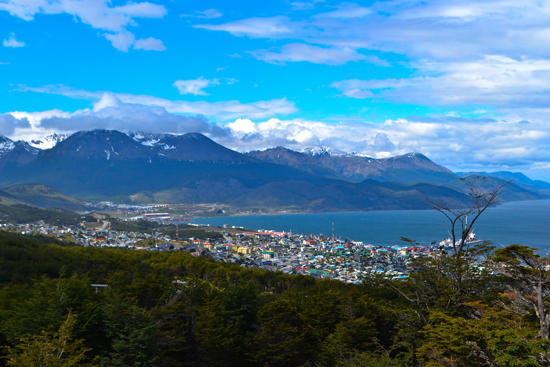 Overlooking beautiful Ushuaia...the end of the world!
