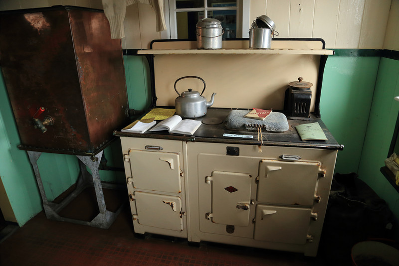A great old stove in the kitchen, some old friends in the UK us to have one of these running 24hrs/day, lovely! British Base A, Port Lockroy on Goudier Island.