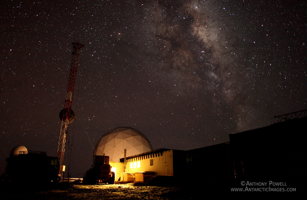 Milky Way over Black Island Satellite Station