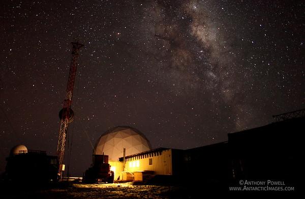 Milky Way over Black Island Satellite Station