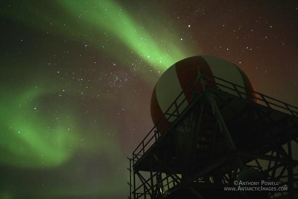 Aurora Australis at T-Site, near McMurdo Station, Antarctica.